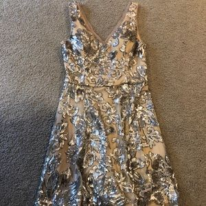 Betsey and Adam sequined cocktail dress